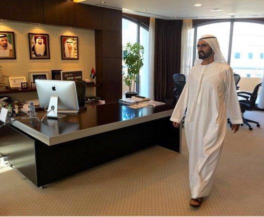 HH Al Maktoum surprise visit